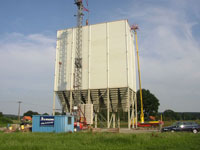 Assembly silo plant 8 x 250 m³ with dual-hopper