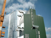 Assembly round silo plant and drying in northern Germany