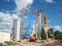 New building drying and round silo