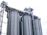 round silos with hopper