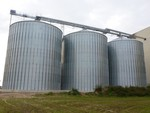 Round silo plant 3 x 4000 t (new building 2011)