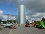 New adoption of a silo installation for wooden pellets