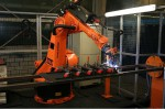 Welding robots in the small series field